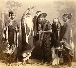 Indian theatrical group, Bombay.